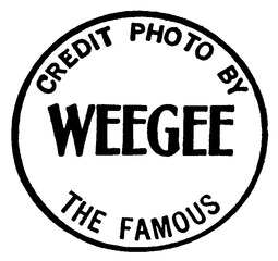 Rubber stamp used by the photographer Weegee (Arthur Fellig) for signing his pictures.